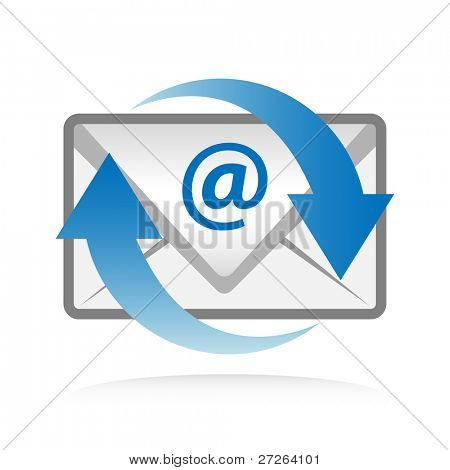 Electronic mail sync symbol.