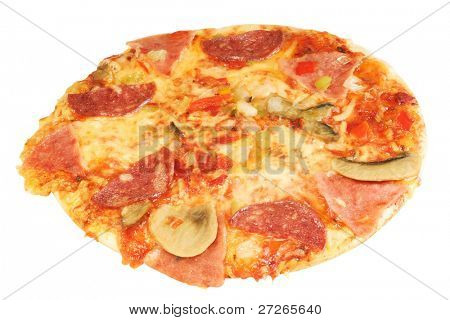 pizza under the light background