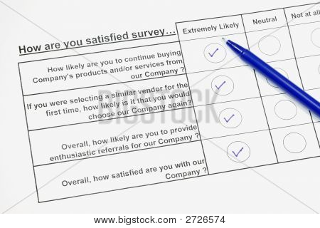 How Are You Satisfied Survey