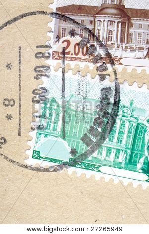 postage stamp under the cover