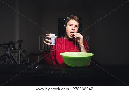 Gamer With A Can Of