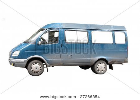 minibus under the white background