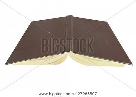 open book under the white background