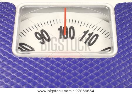 dial of dial-indicating scales shows 100 kg