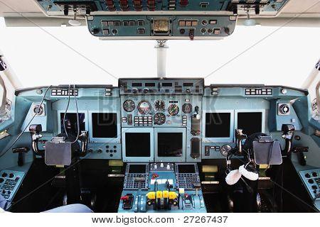 The image of cockpit interior