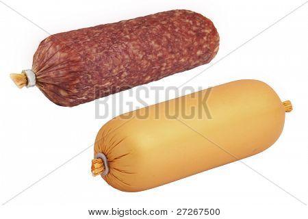 sausage under the white background