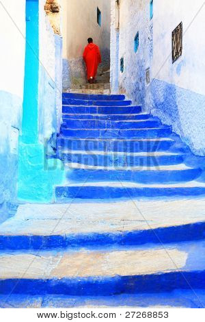 Architectural detail in Chefchaouen, Morocco