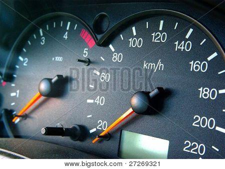 Modern car dashboard