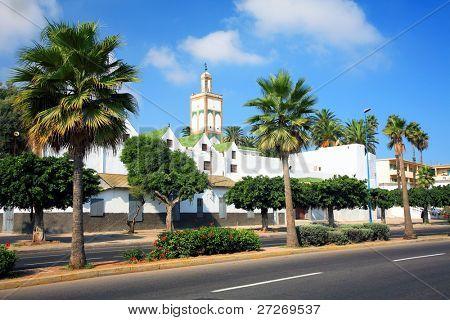 Boulevard in Casablanca, Morocco, Africa