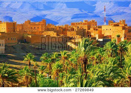 Moroccan Kasbah, Atlas Mountains, Africa