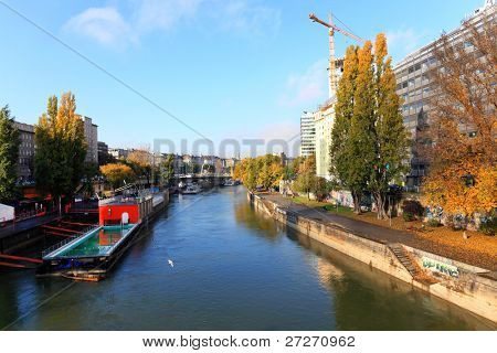 Danube in Wien, Austria