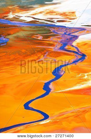 Contaminación de cobre del agua explotación minera