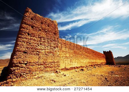 Kasbah in Middle Atlas Mountains, Morocco, Africa