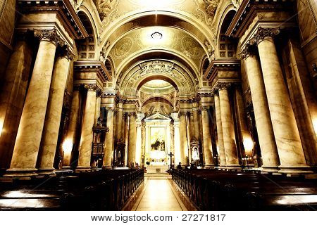 Catholic Cathedral Interior, Arad, Romania