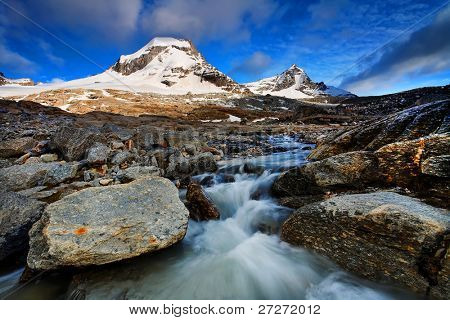 Landscape in Gran Paradiso National Park, Italy