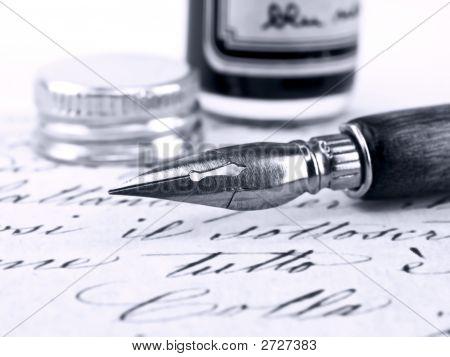 Alte Stift und Retro Kalligraphie.