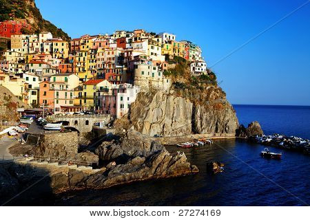 Sunset light in Manarola, Cinque Terre, Italy