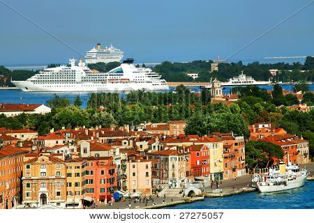 Cruise Ship in Venice, Italy