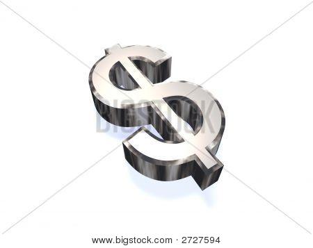 Chrome Dollar Symbol