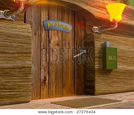 View On Mister Mouse Home Wooden Door