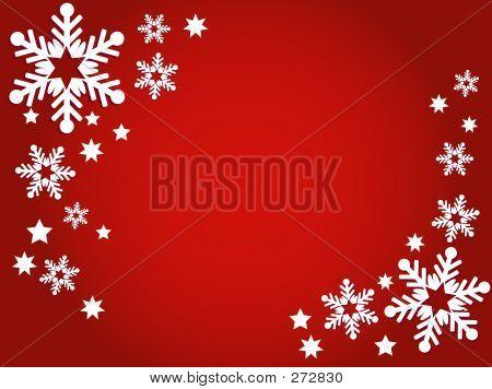 Schneeflocken und Sternen