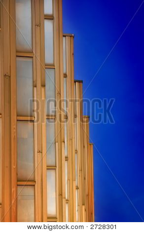 Golden Modern Building