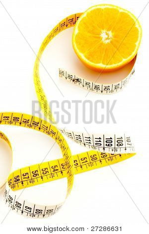Fresh Orange With Measuring