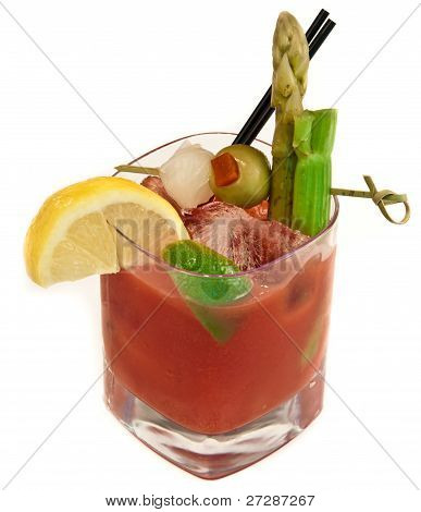 Isolated Bloody Mary