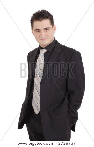 Attractive Adult In A Suit