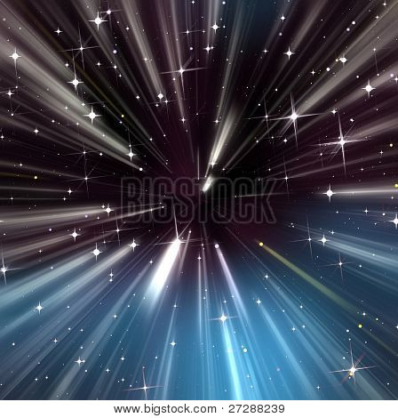 Running up stars in the dark sky