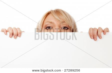 Beautiful woman looking surprised. Isolated over white.