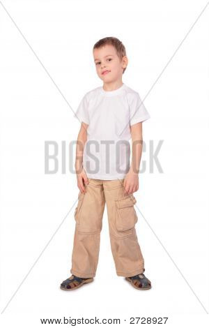 Boy In White Shirt Posing