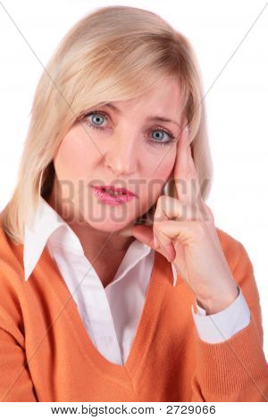 Middleaged Woman Face Close-Up 3