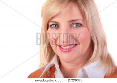 Middleaged Woman Face Close-Up 2
