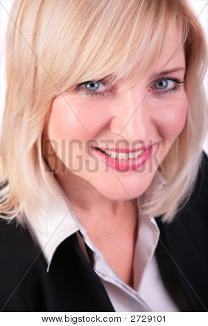 Middleaged Woman Face Close-Up