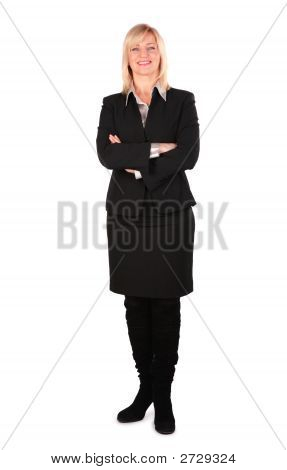 Middleaged Business Woman Posing