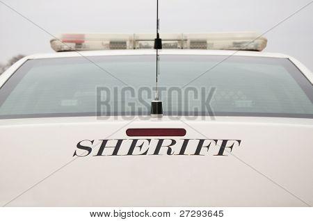 Rear end of a sheriff's patrol car