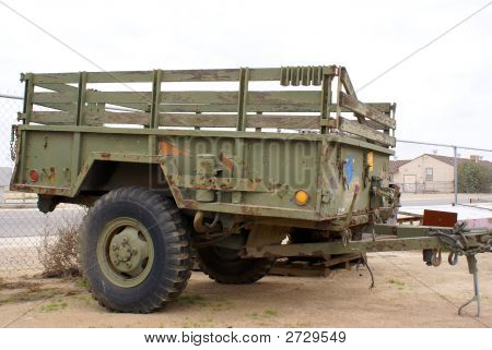 A World War II U S Army utility trailer