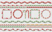 Christmas Candy Borders And Frames. Christmas Candy Elements. Vector Illustration poster