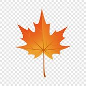 Autumn Maple Leaf Icon. Flat Illustration Of Autumn Maple Leaf Vector Icon For Web Design poster