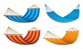 Hammock Icon Set. Realistic Set Of Hammock Vector Icons For Web Design poster