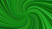 Green Psychedelic Abstract Spiral Stripe Background - Vector Curved Burst Design poster