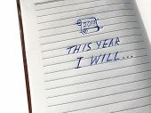 The Inscription 2019 This Year I Will Be On The Page Of A Notebook. The Goals Of The Year. New Year  poster