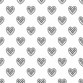 Impressionable Heart Pattern Seamless Repeat Geometric For Any Web Design poster