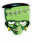 picture of frankenstein  - Cut out and keep Frankenstein mask - JPG