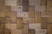 Dark Old Oak Floors, Hardwood Floors Background, Renovation Floor House, Historic Wooden Oak Parquet poster