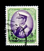 THAILAND - CIRCA 1997: A stamp printed in Thailand shows Bhumibol Adulyadej Rama IX of Thailand, cir