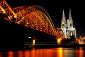 image of koln  - Rhine River and Dom of Cologne - JPG