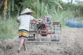 Child Labor, Poor Children Driving A Plow Farming Area, Children Have To Work Because Of Poverty, Ag poster