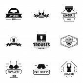 Beachwear Logo Set. Simple Set Of 9 Beachwear Logo For Web Isolated On White Background poster